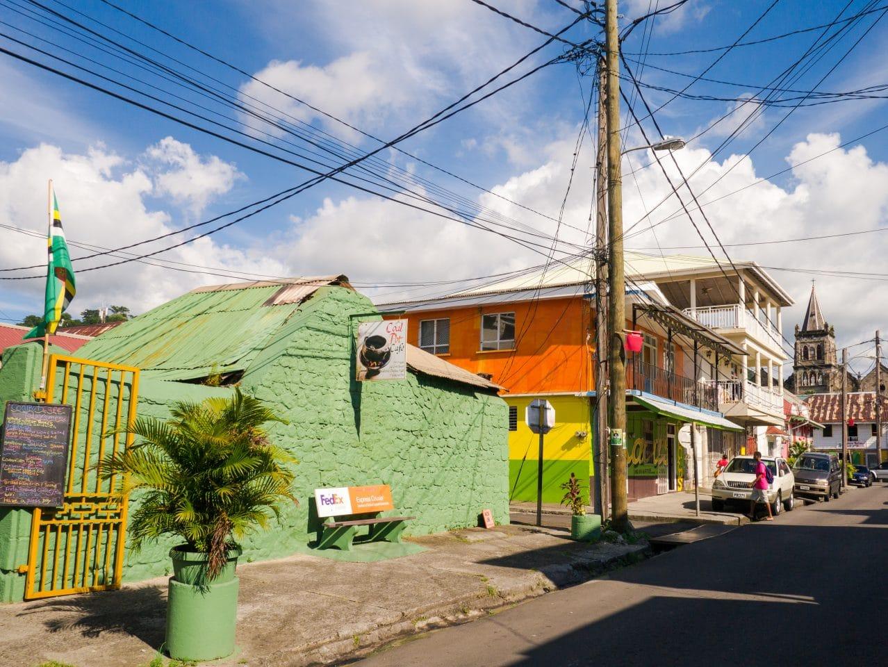 roseau, dominique, dominica, antilles