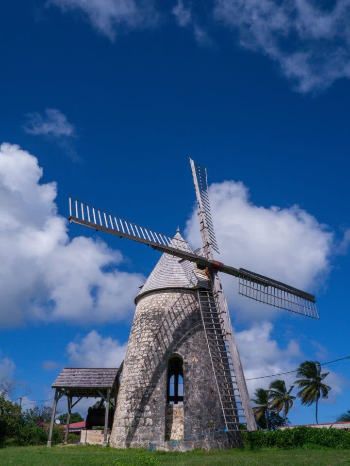 marie galante, guadeloupe, paysage, moulin