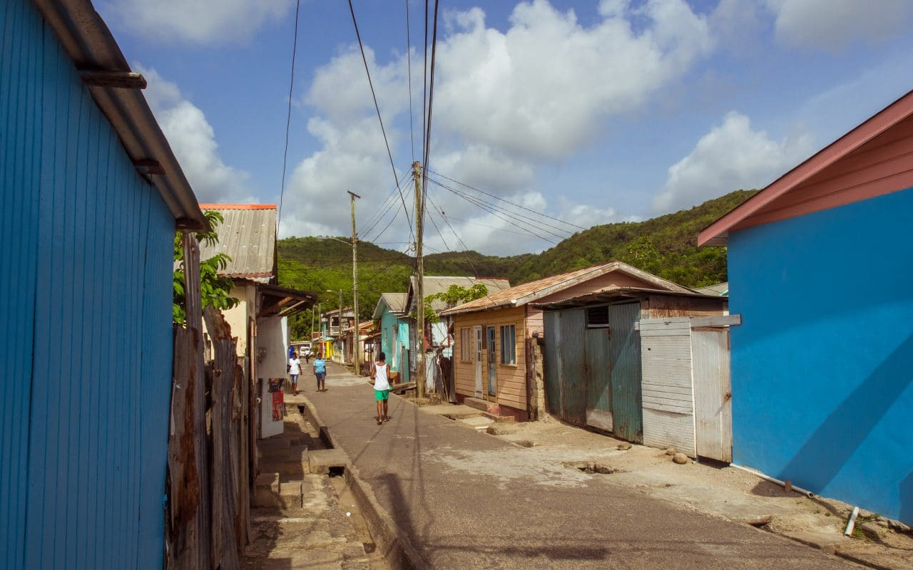 anse la raye, sainte lucie, photographie, village, fish party