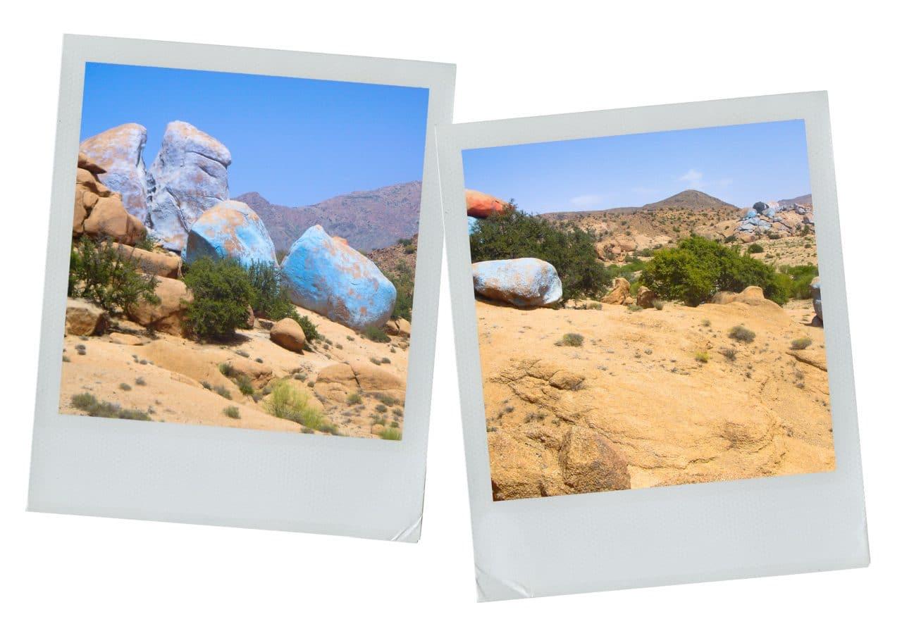 verame, tafraout, maroc, anti-atlas, rochers bleus