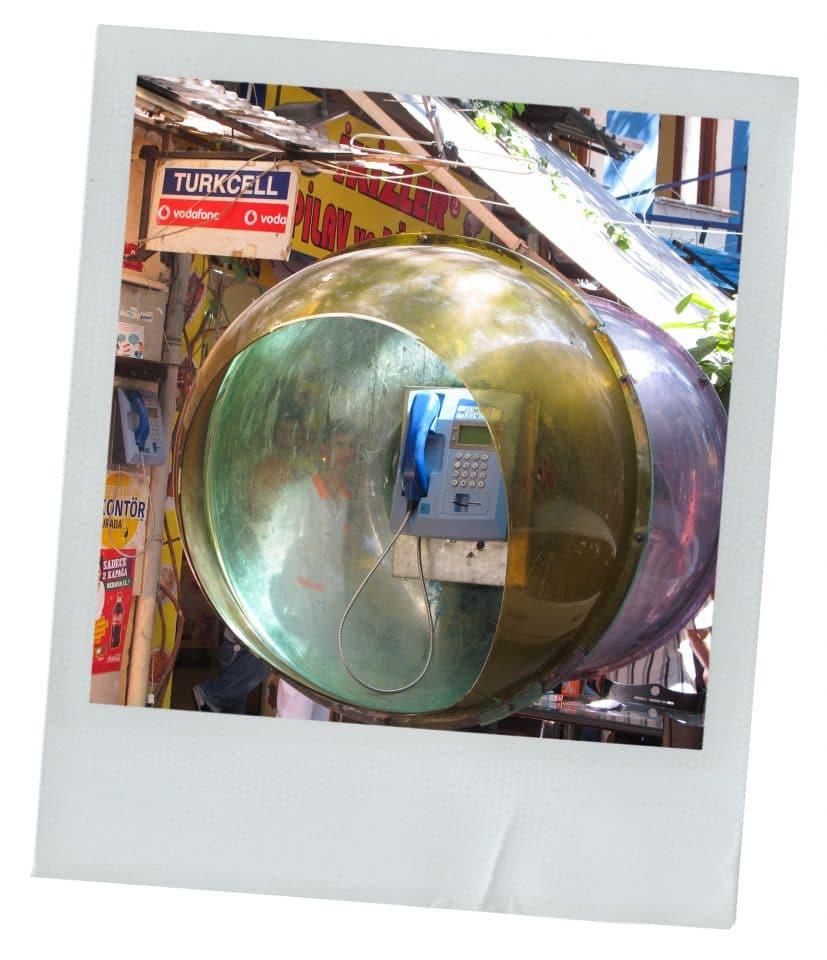 turquie, cabine téléphonique