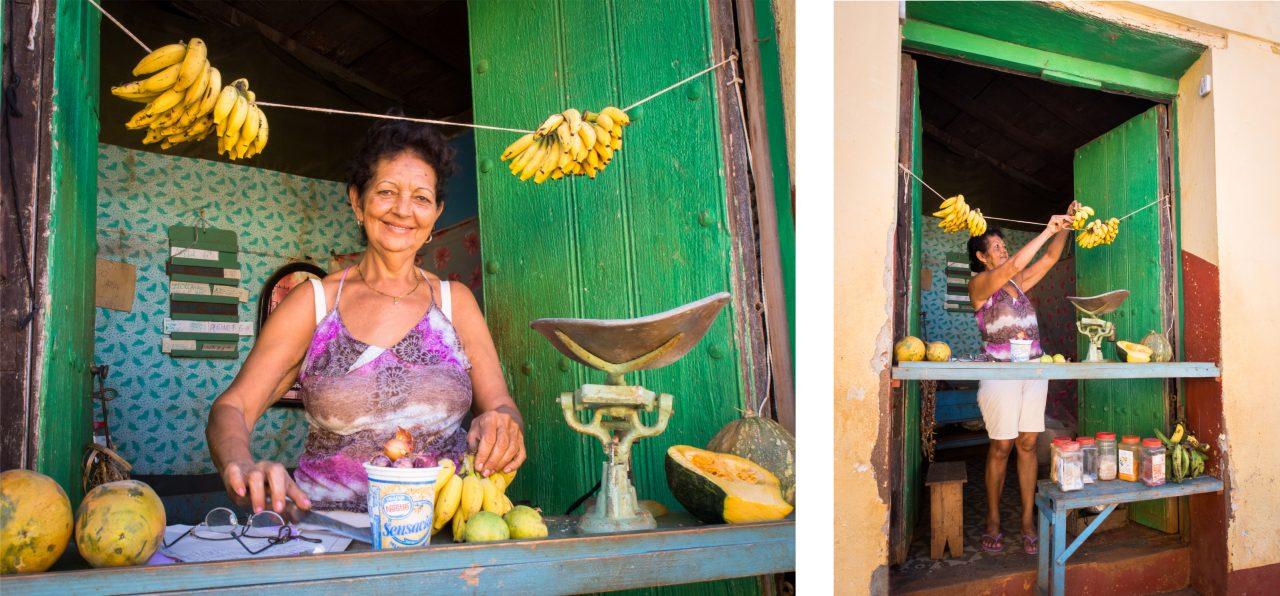 trinidad voyage - voiture cuba - rue colorée trinidad - marché trinidad-habitant de trinidad