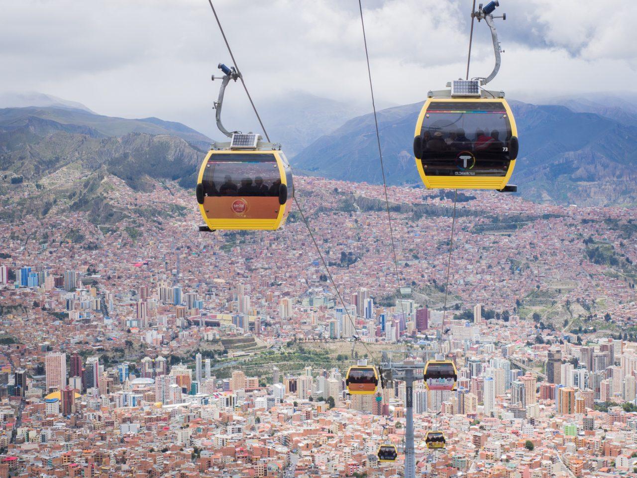 Altitude la paz - téléphérique la paz-Bolivie voyage-vue aérienne la paz-montagne bolivie