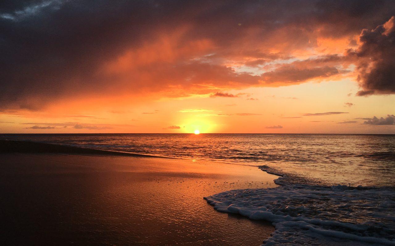 guadeloupe, coucher de soleil, la perle, deshaies