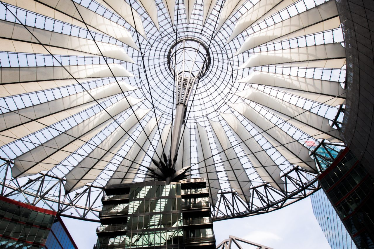 potsdamer platz berlin- Sony center Berlin- architecture