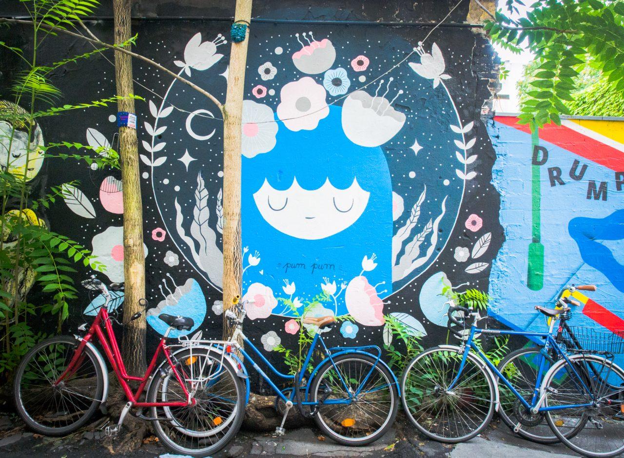 voyage a berlin-allemagne- street art berlin-berlin velo-Hackesche Höfe