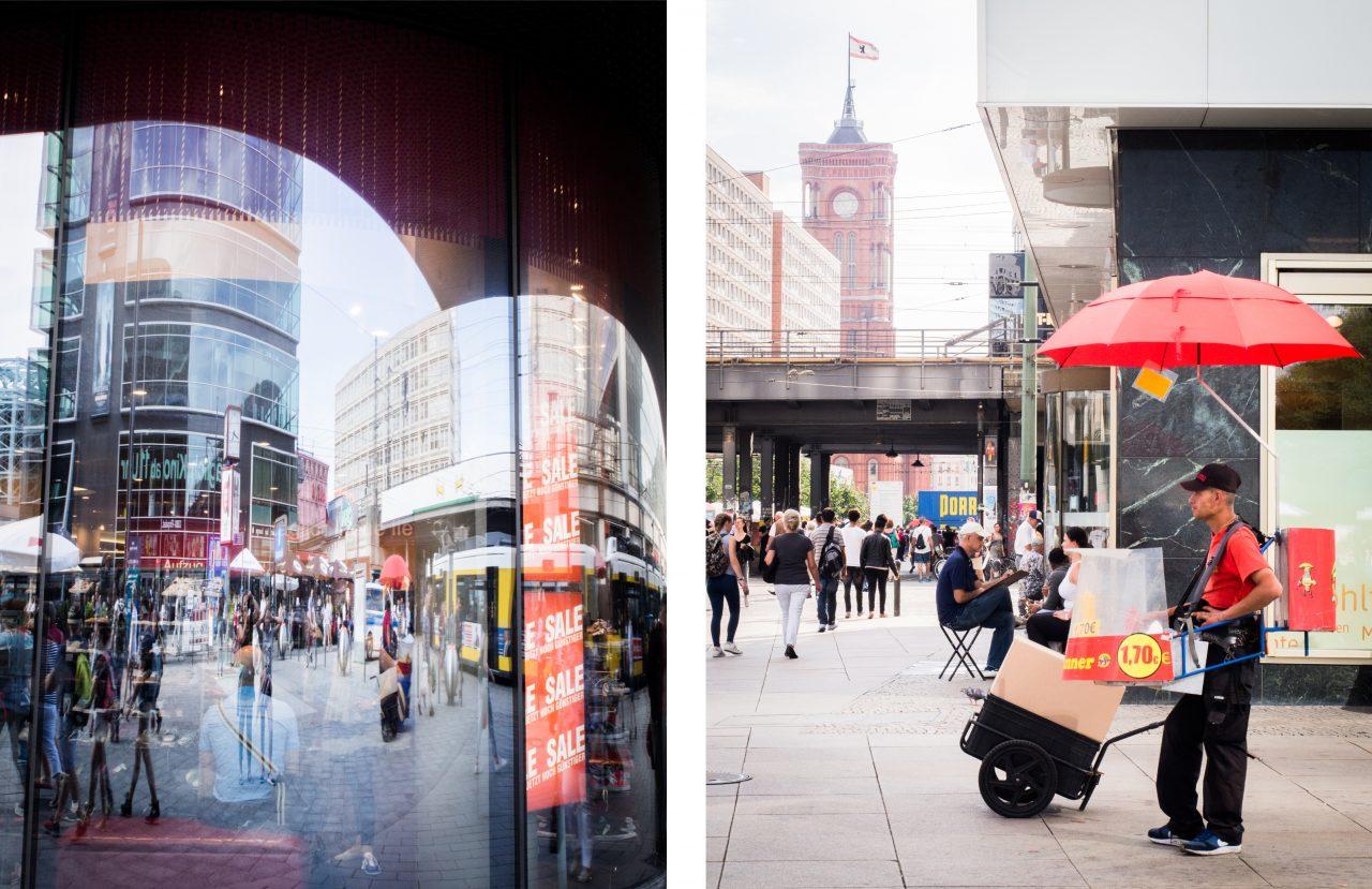 alexander platz- Mitte, horloge universelle de berlin- tour de television berlin-Fernsehturm