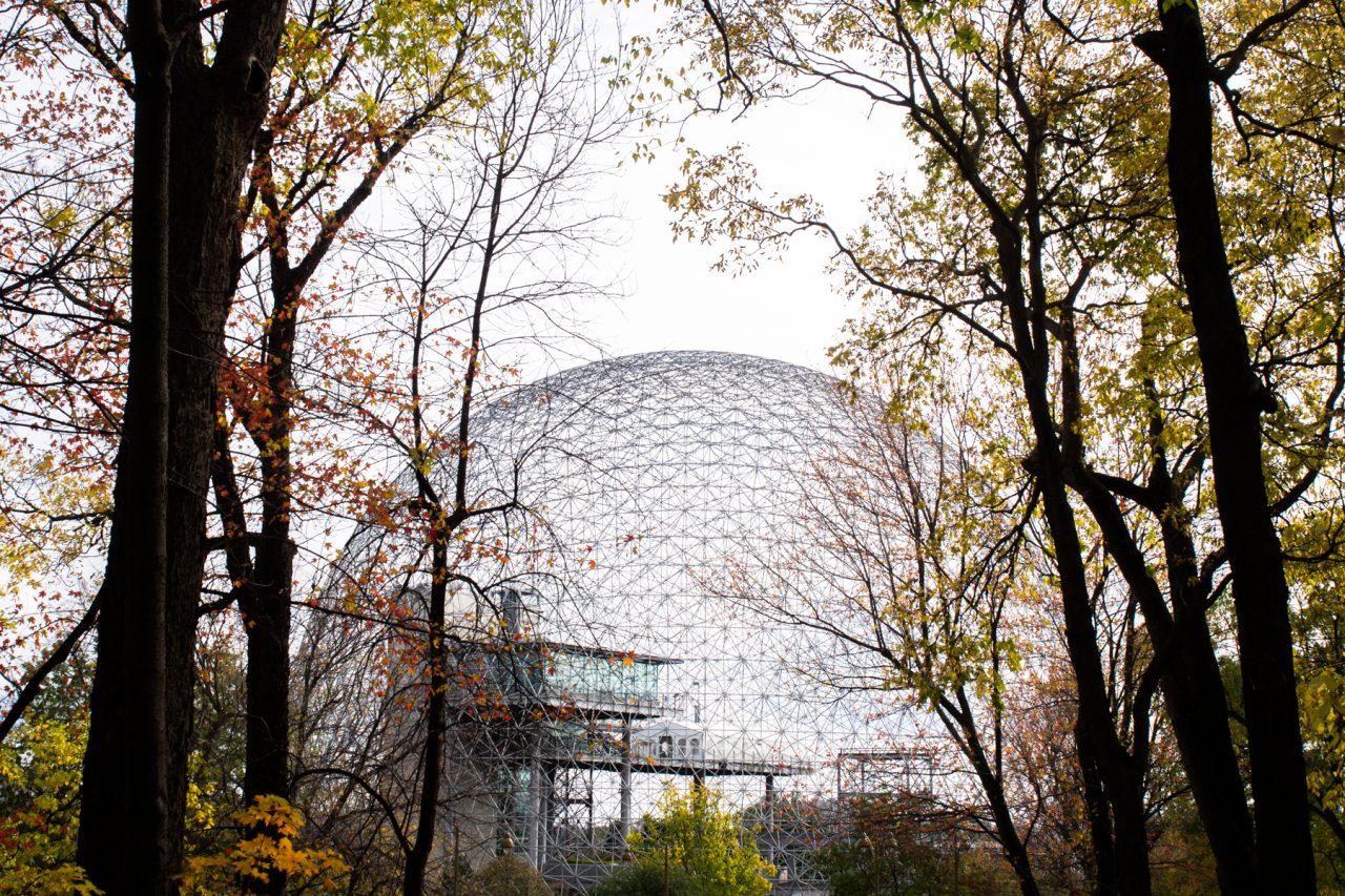 biosphère montréal-parc montréal qc-l automne à montréal-photo du canada