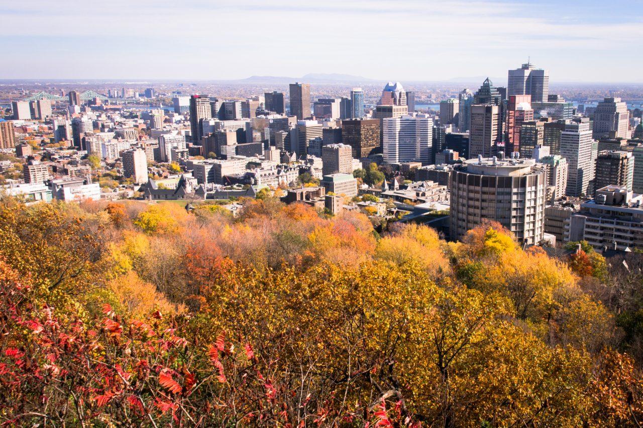 automne à montréal-slyline montréal-parc montréal qc-photo canada