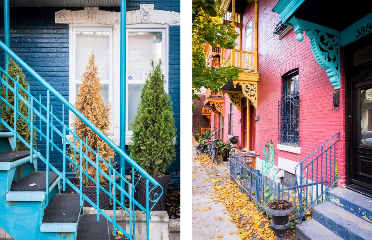 canada photos-plateau mont royal montréal qc canada-escalier montréal-l automne à montréal