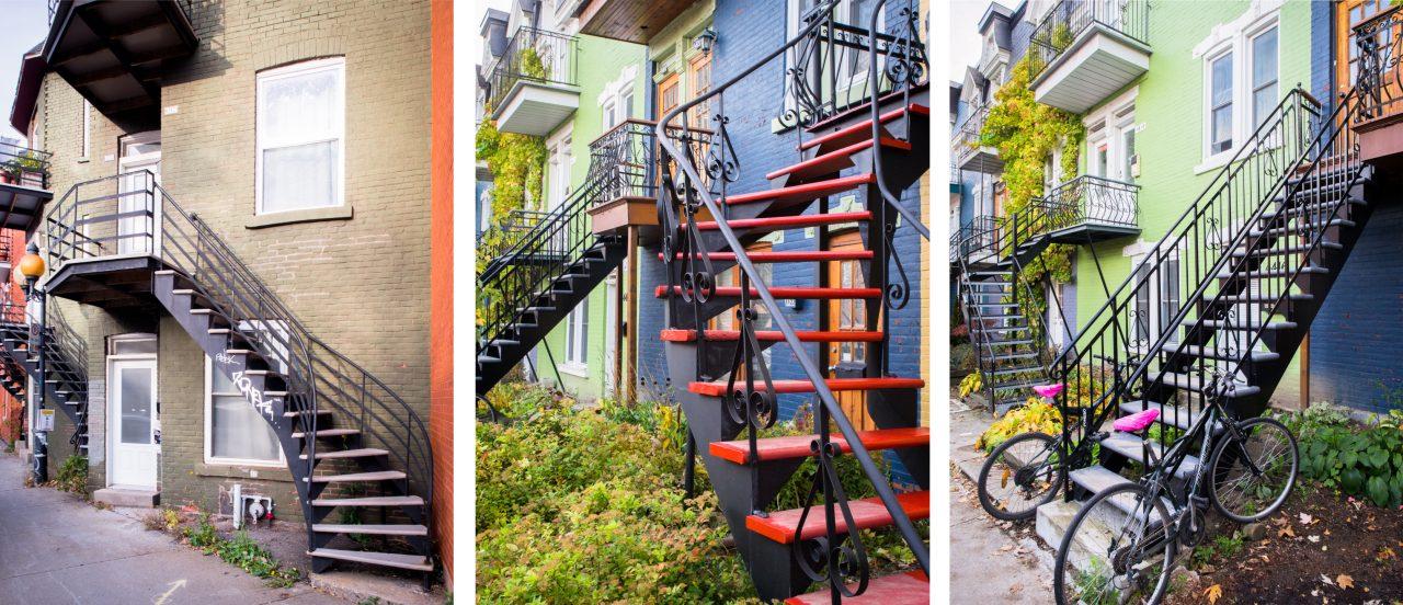 l escalier montréal-le plateau mont royal montréal-photo du canada