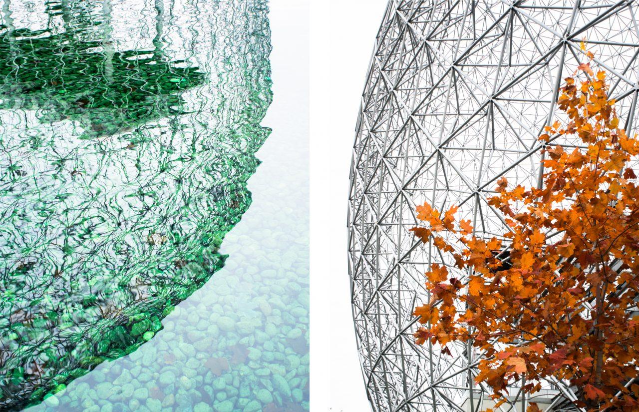biosphère de montréal-l'automne à montréal-photo du canada-parc montréal qc