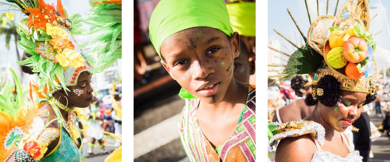 carnaval antillais guadeloupe-déguisement carnaval guadeloupe-portrait enfant créole