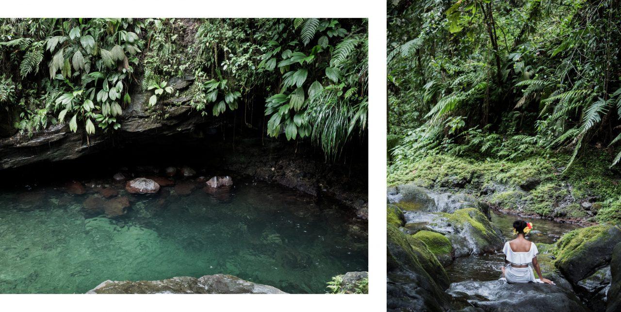 cascade paradis guadeloupe - capesterre belle eau - guadeloupe foret tropicale