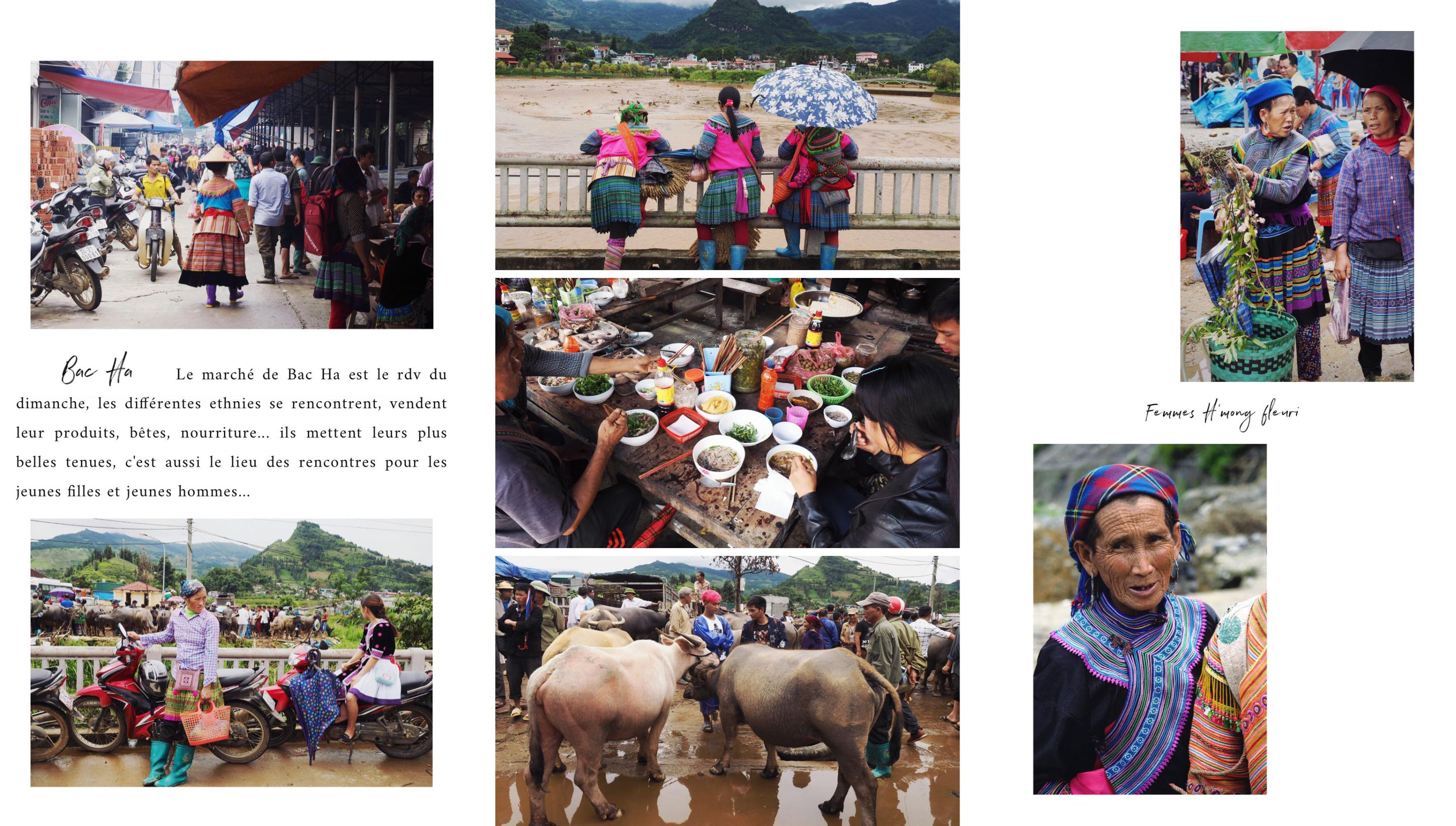 vietnam - montagnes du nord - ethnies minoritaires - asie - marché de Bac Ha