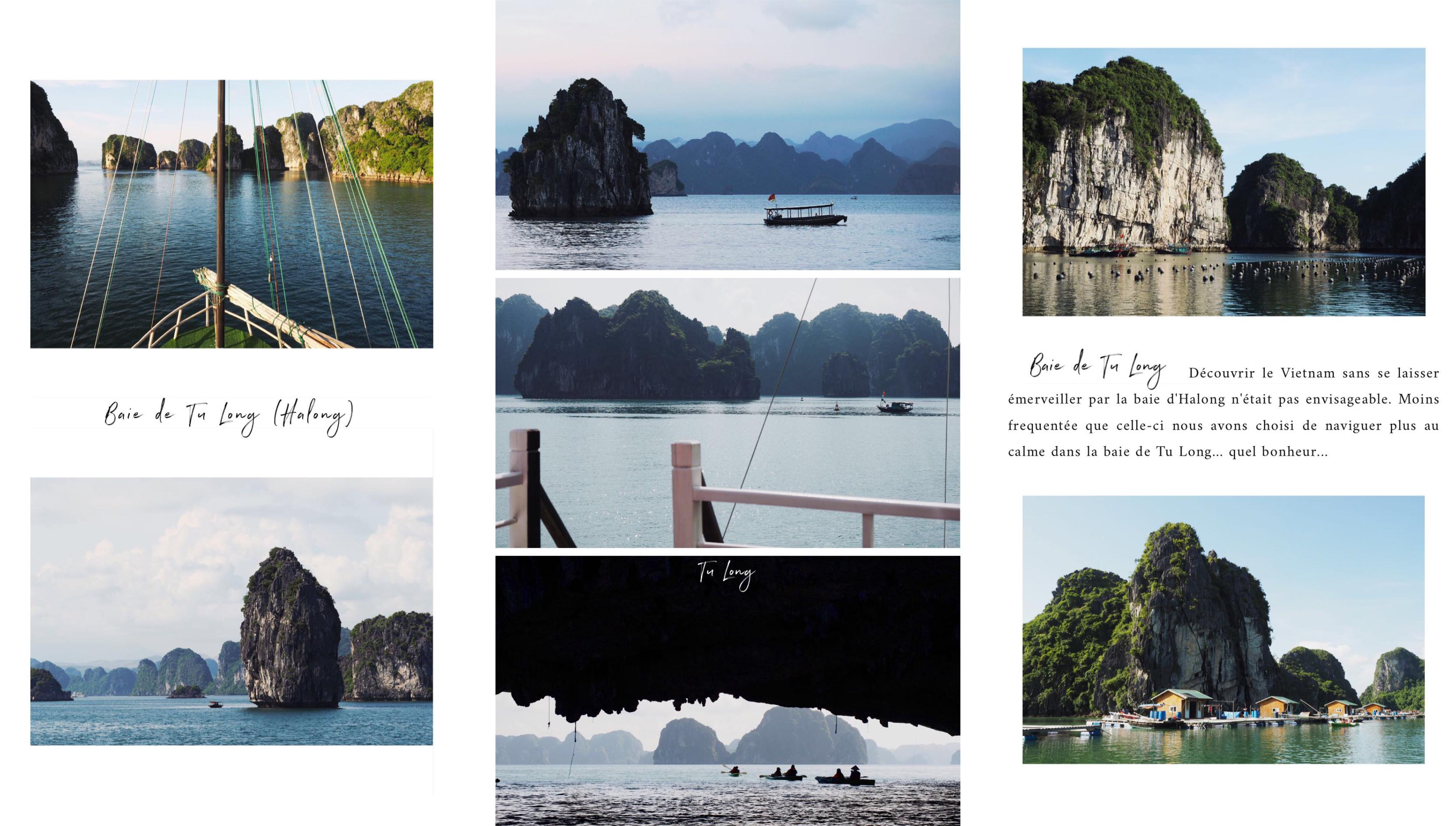 vietnam - asie - découvrir la baie d'Halong en bateau