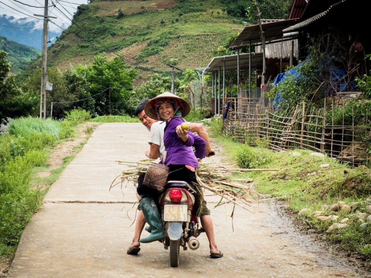 moto vietnam-riziere au vietnam-vietnam nord