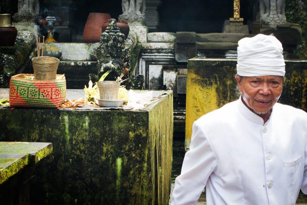 bali, temple, ubud, cérémonie