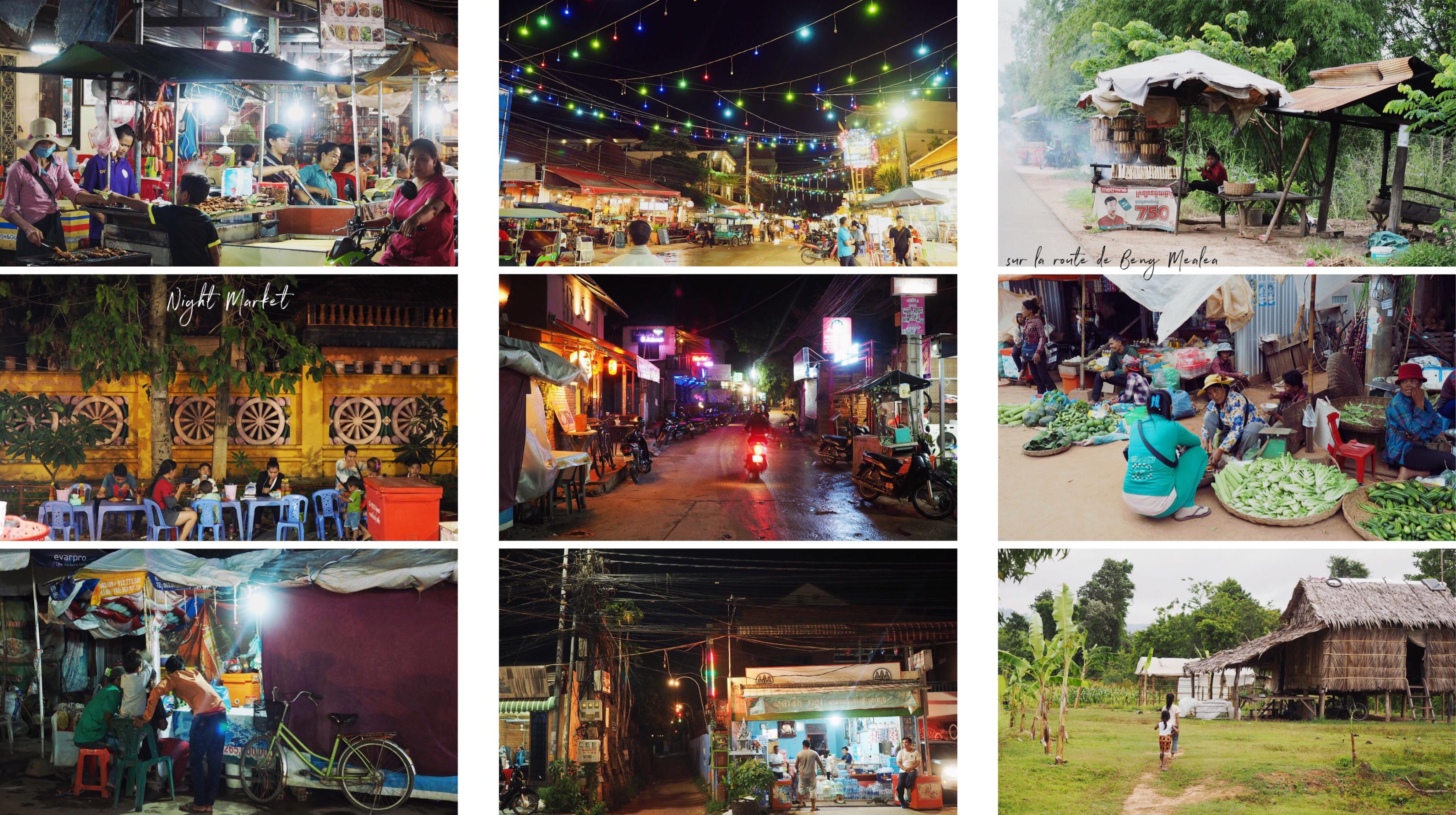 découvrir siem reap - visiter le nightmarket - cambodge