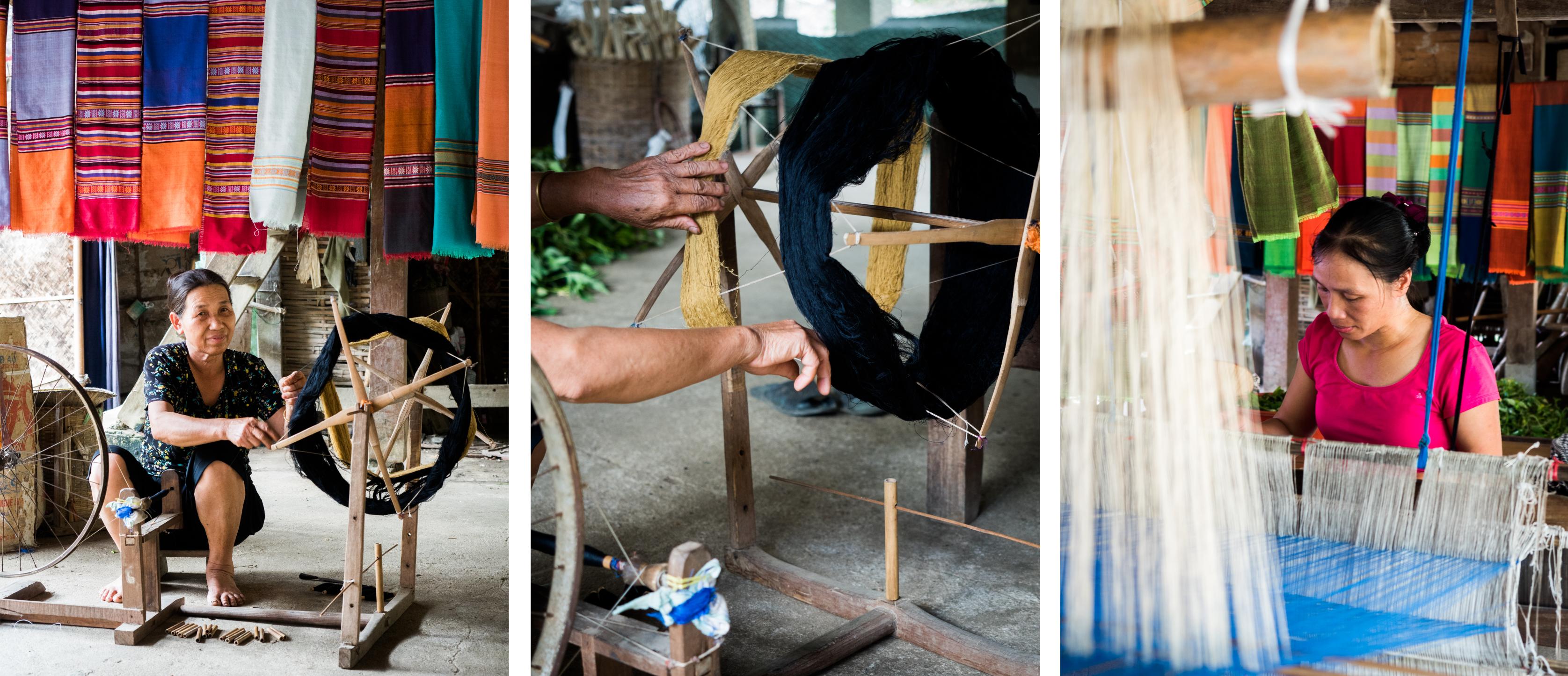 vietnam - ethnies minoritaire - mai chau - tisseuse