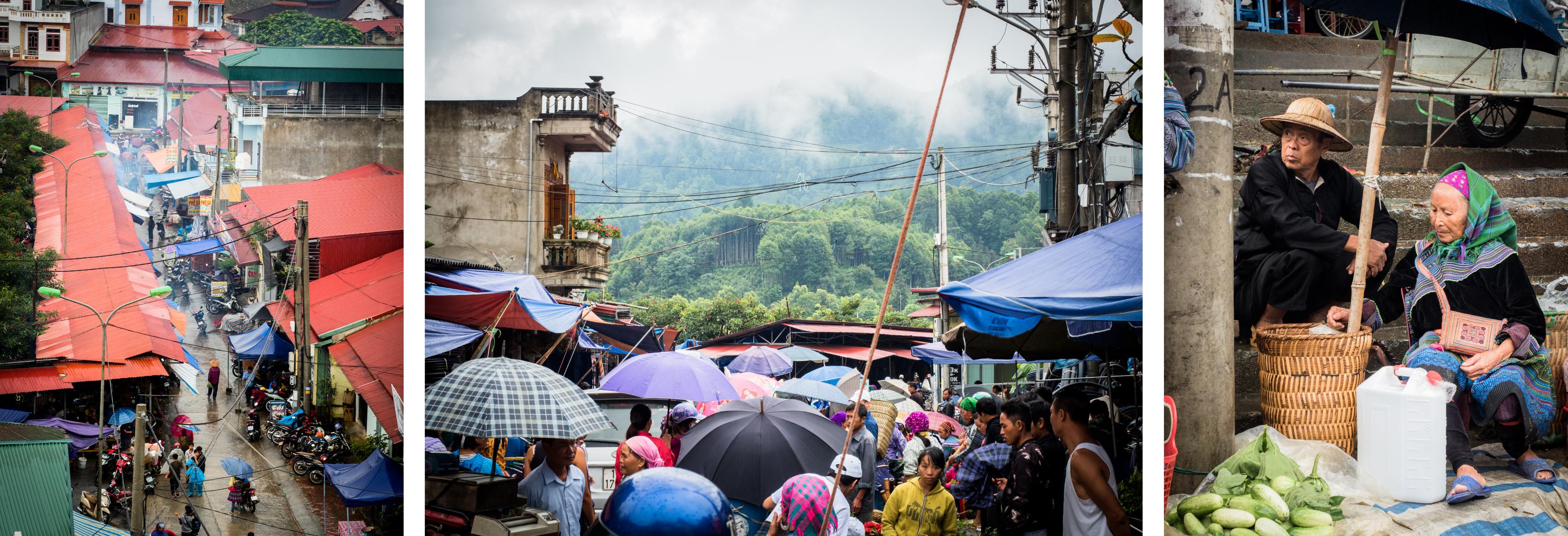 portraits ethniques - marché de bac ha - vietnam - ethnies minoritaire - bac ha market