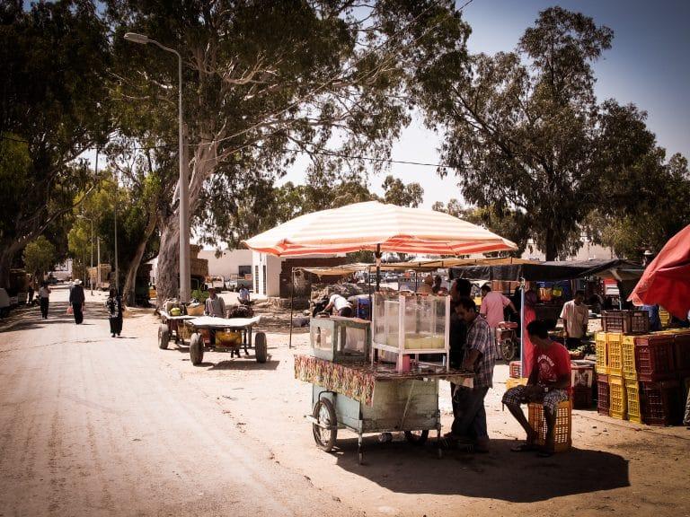 le marché tunisien - Tunisie - Un marché de village en Tunisie - portrait de tunisien