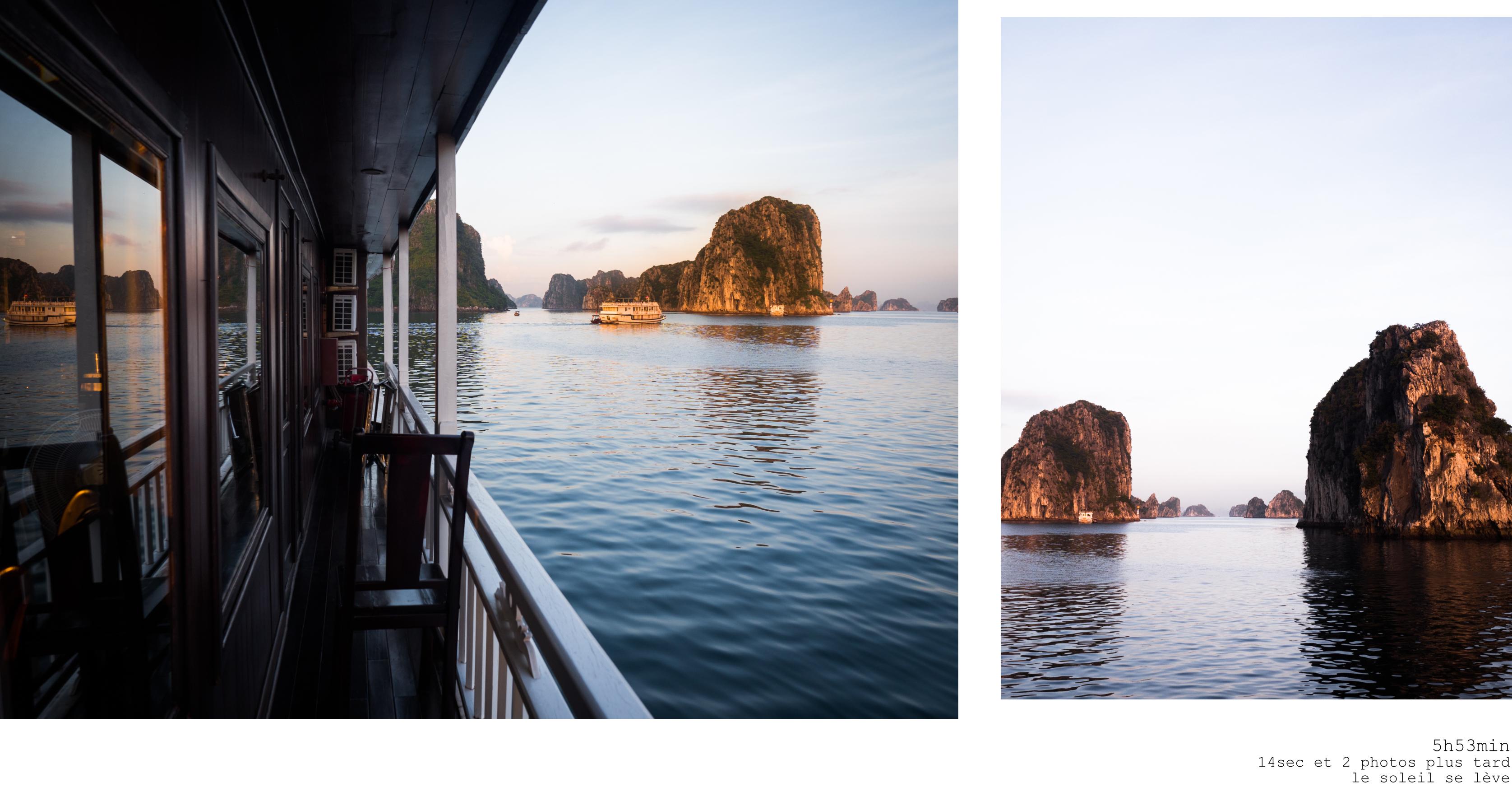 vietnam - bai tu long bay en jonque - baie d'halong