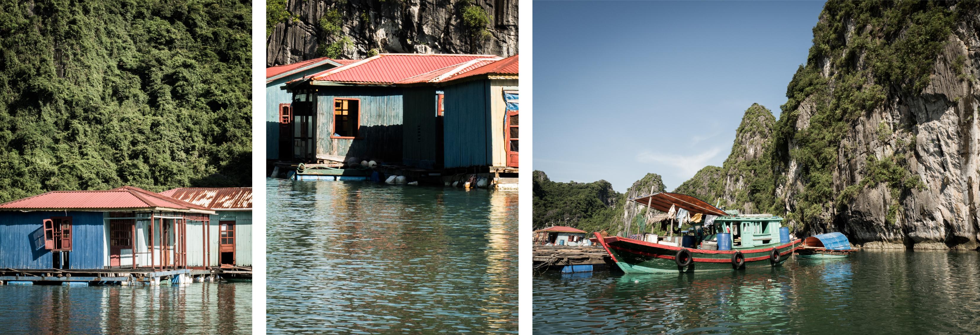 vietnam - village flottant - baie d'halong