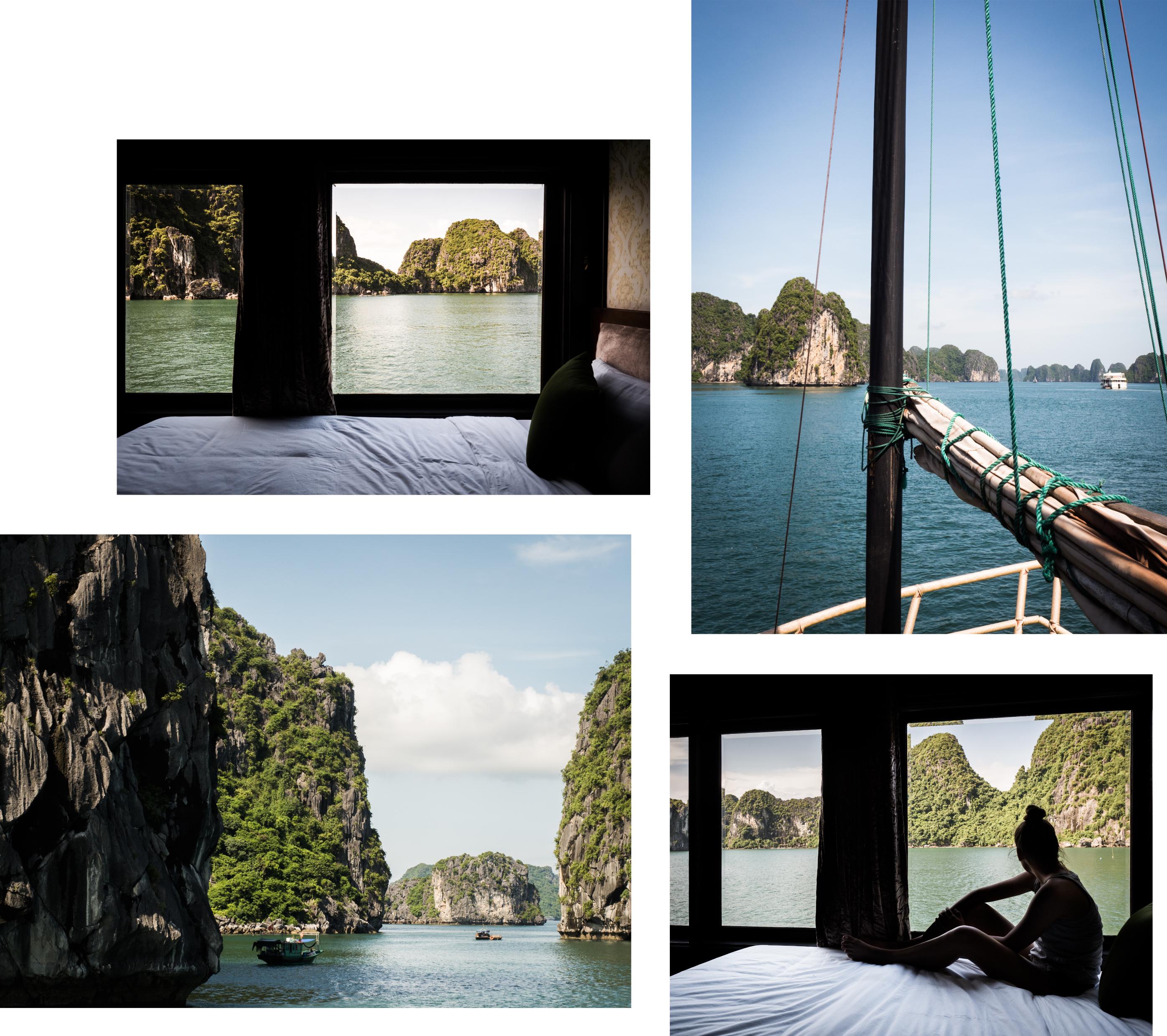 vietnam - bai tu long bay - baie d'halong en jonque