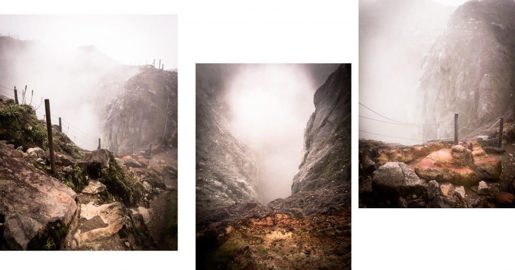 la soufrière guadeloupe - cratère la soufrière aux antilles - photo du cratère de la soufrière en guadeloupe