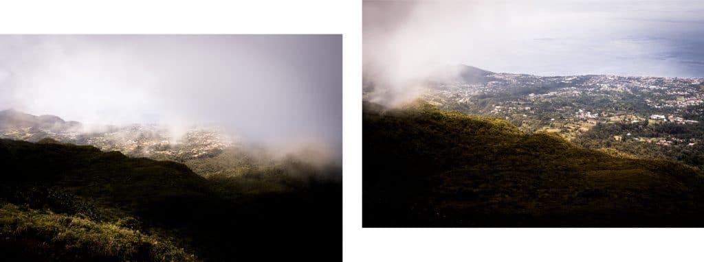 la soufrière randonnée - photo du volcan la soufrière en guadeloupe - vue sur la mer des caraibes