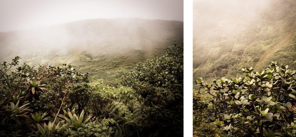 photo antilles - photo de la soufrière en guadeloupe dans la brume