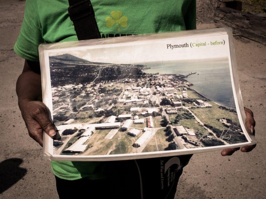 Photo de la capitale plymouth avant l'éruption de la soufrière