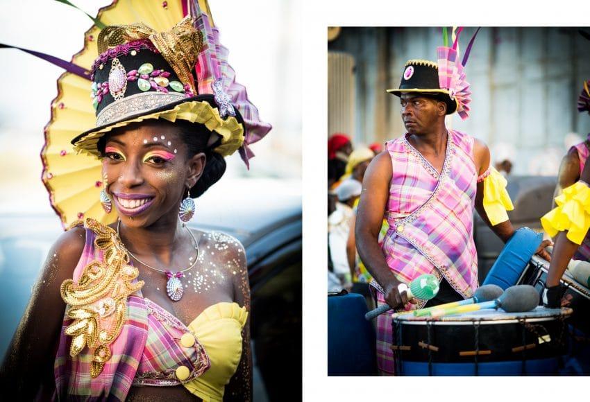 carnaval antillais guadeloupe - defile carnaval guadeloupe - maquillage carnaval guadeloupe - musique carnaval guadeloupe - tambour carnaval guadeloupe