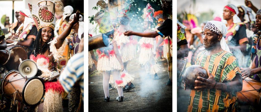 photo de carnaval en guadeloupe - defile carnaval guadeloupe - musique carnaval guadeloupe - tambour carnaval guadeloupe groupes à peaux, mass a po