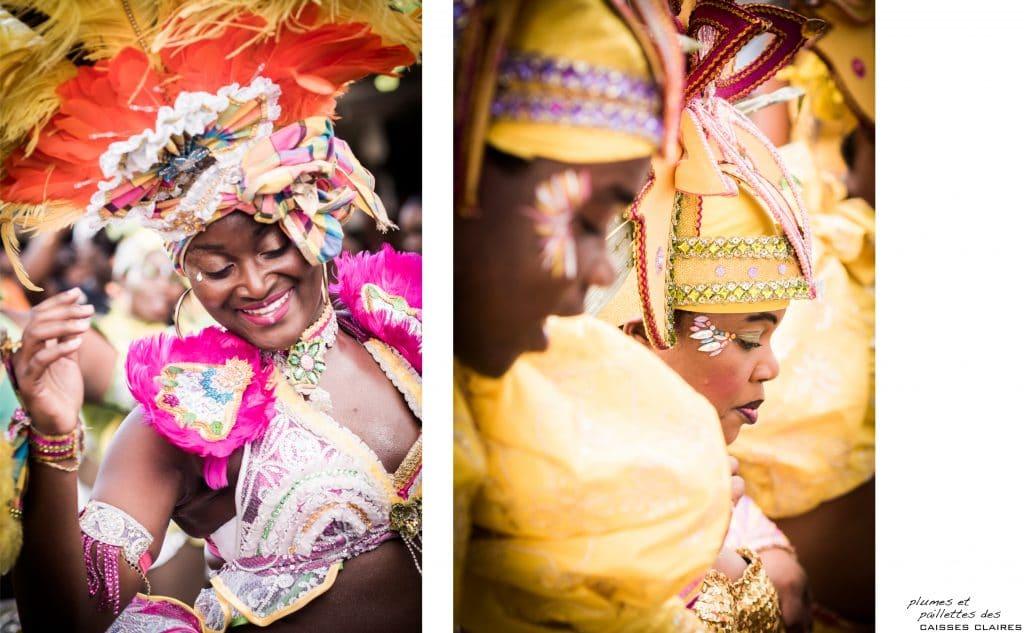 le carnaval de guadeloupe - defile carnaval guadeloupe - masque de carnaval guadeloupe - maquillage carnaval guadeloupe