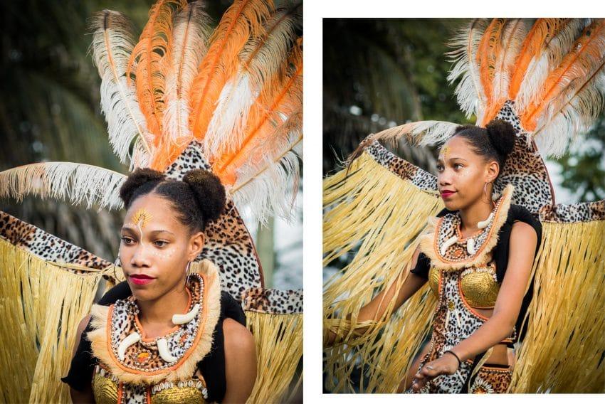 lcarnaval en guadeloupe 2019 -  defile carnaval guadeloupe - maquillage carnaval guadeloupe - danseuse carnaval antillais