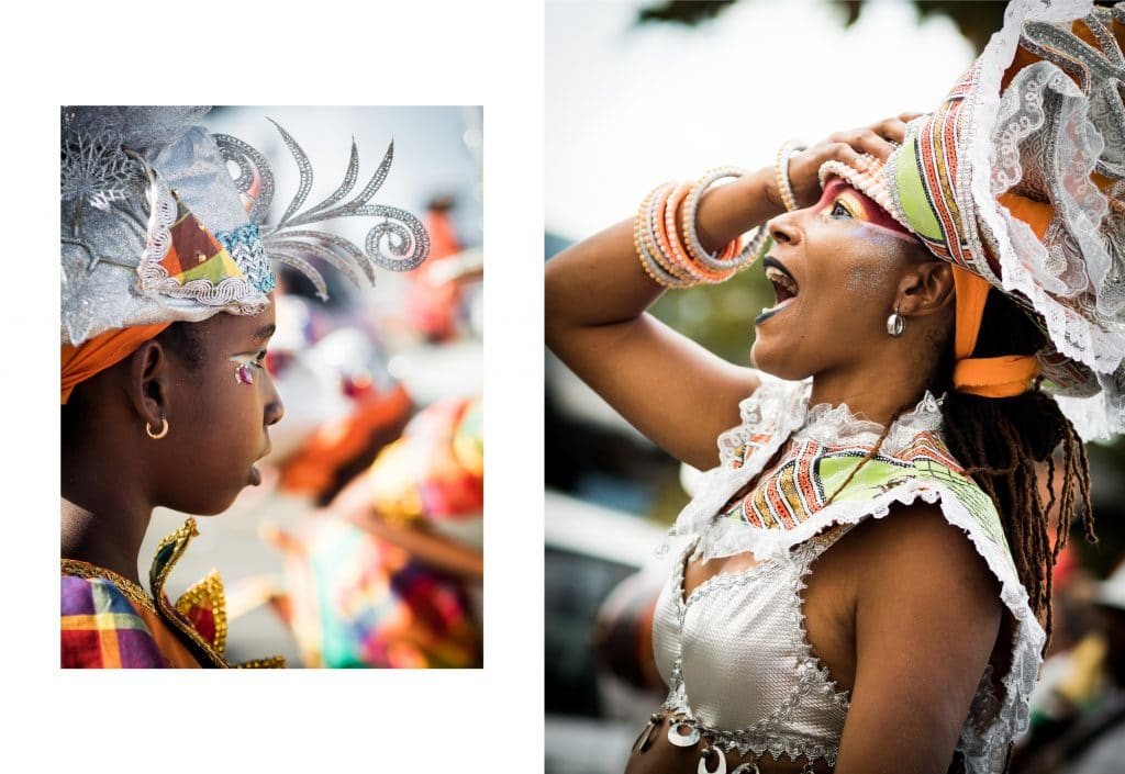 carnaval antillais guadeloupe - defile carnaval guadeloupe - masque de carnaval guadeloupe - maquillage carnaval guadeloupe