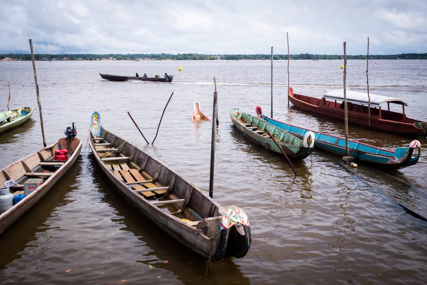 guyane Amazonie - rive du maroni - fleuve st laurent