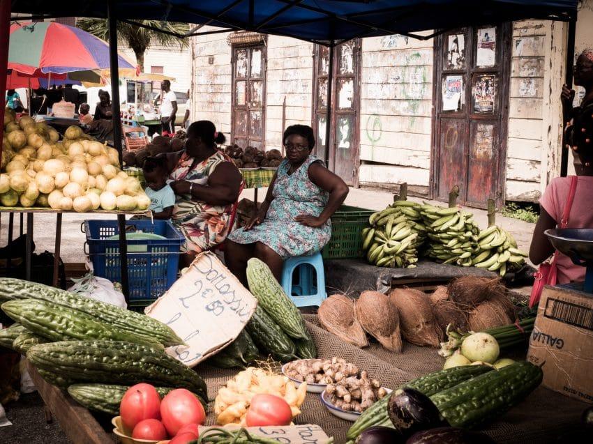 Photo du Marché de Saint-Laurent du Maroni en Guyane française - voyage Guyane