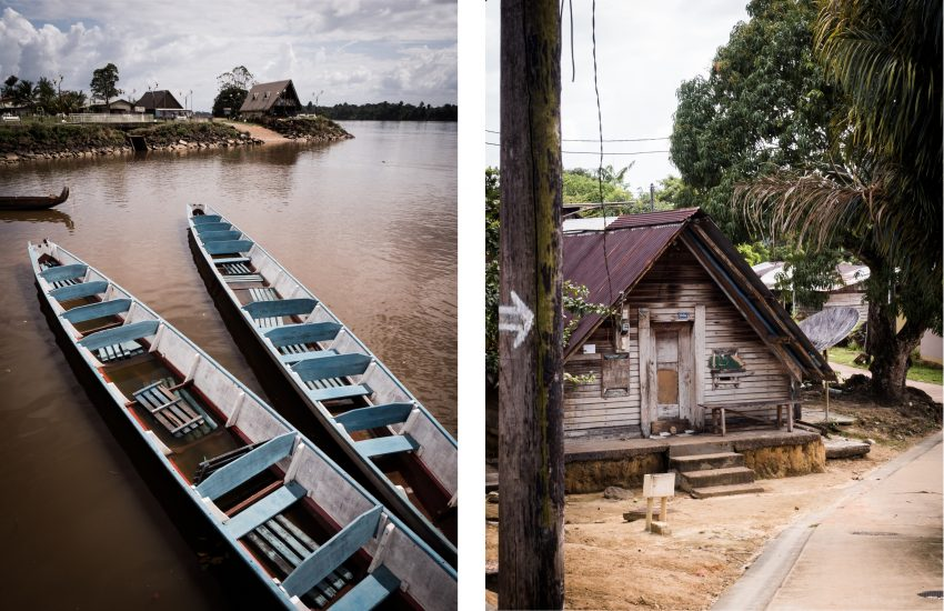 guyane Amazonie - rive du maroni - fleuve st laurent du maroni , apatou