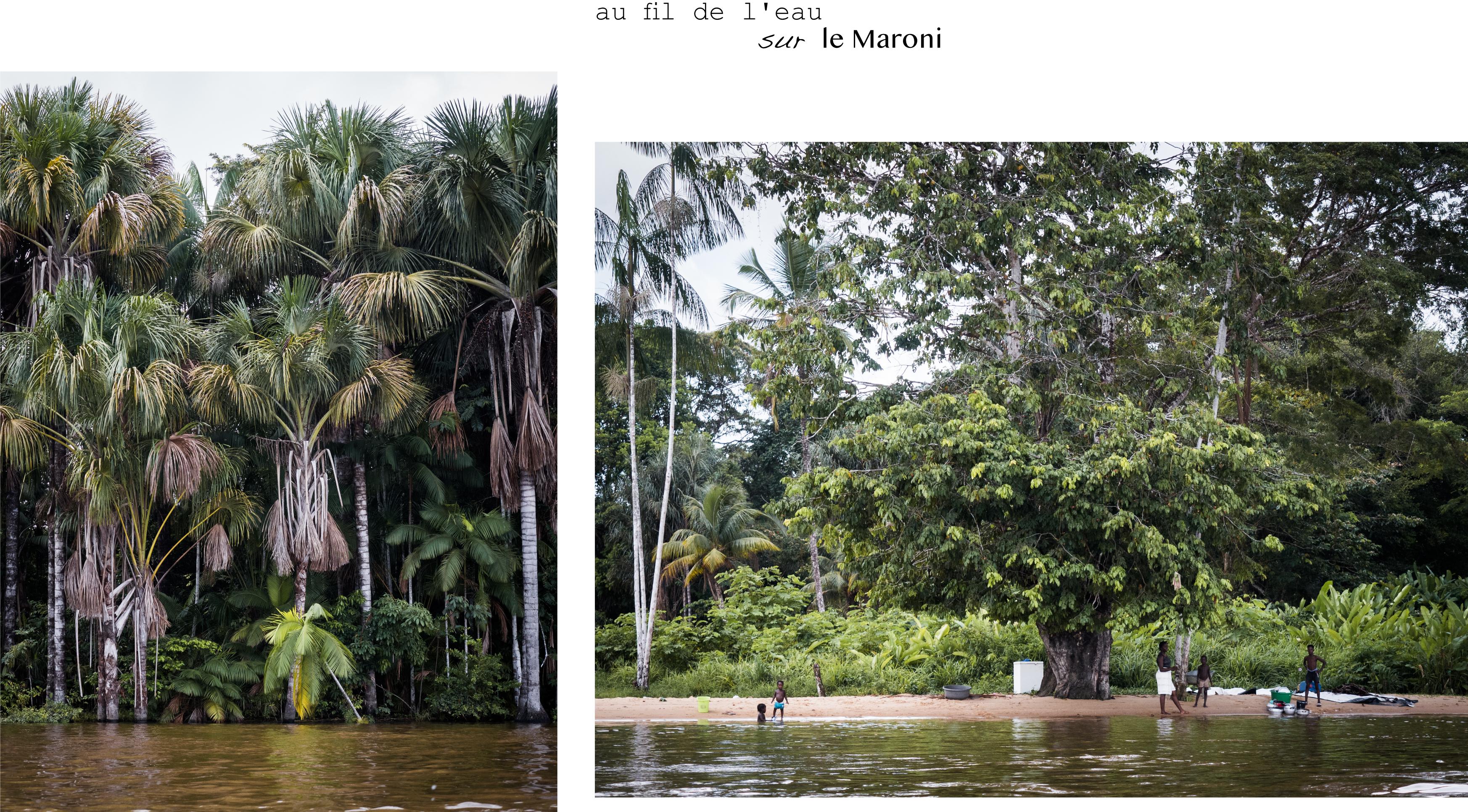 guyane Amazonie - rive du maroni - fleuve st laurent du maroni en pirogue