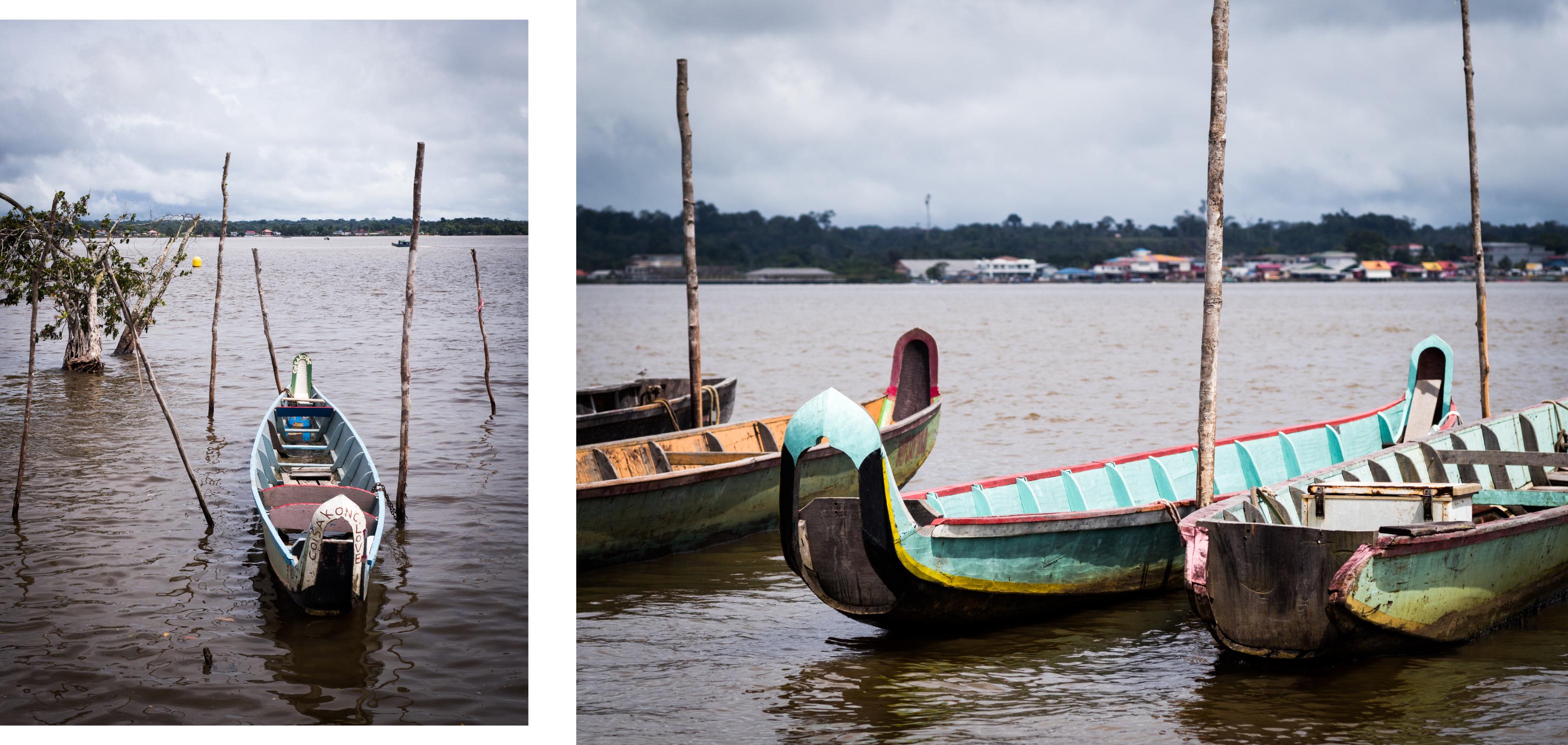 Photo Fleuve Saint Laurent du Maroni  lors d'un voyage en Guyane Française Amazonie
