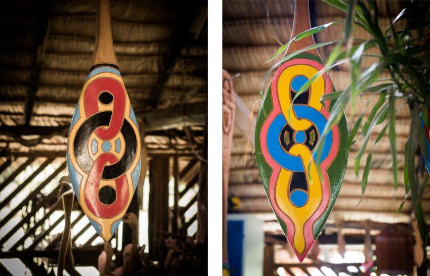 guyane Amazonie - rive du maroni - fleuve st laurent du maroni - construction d'une pirogue - art tembé