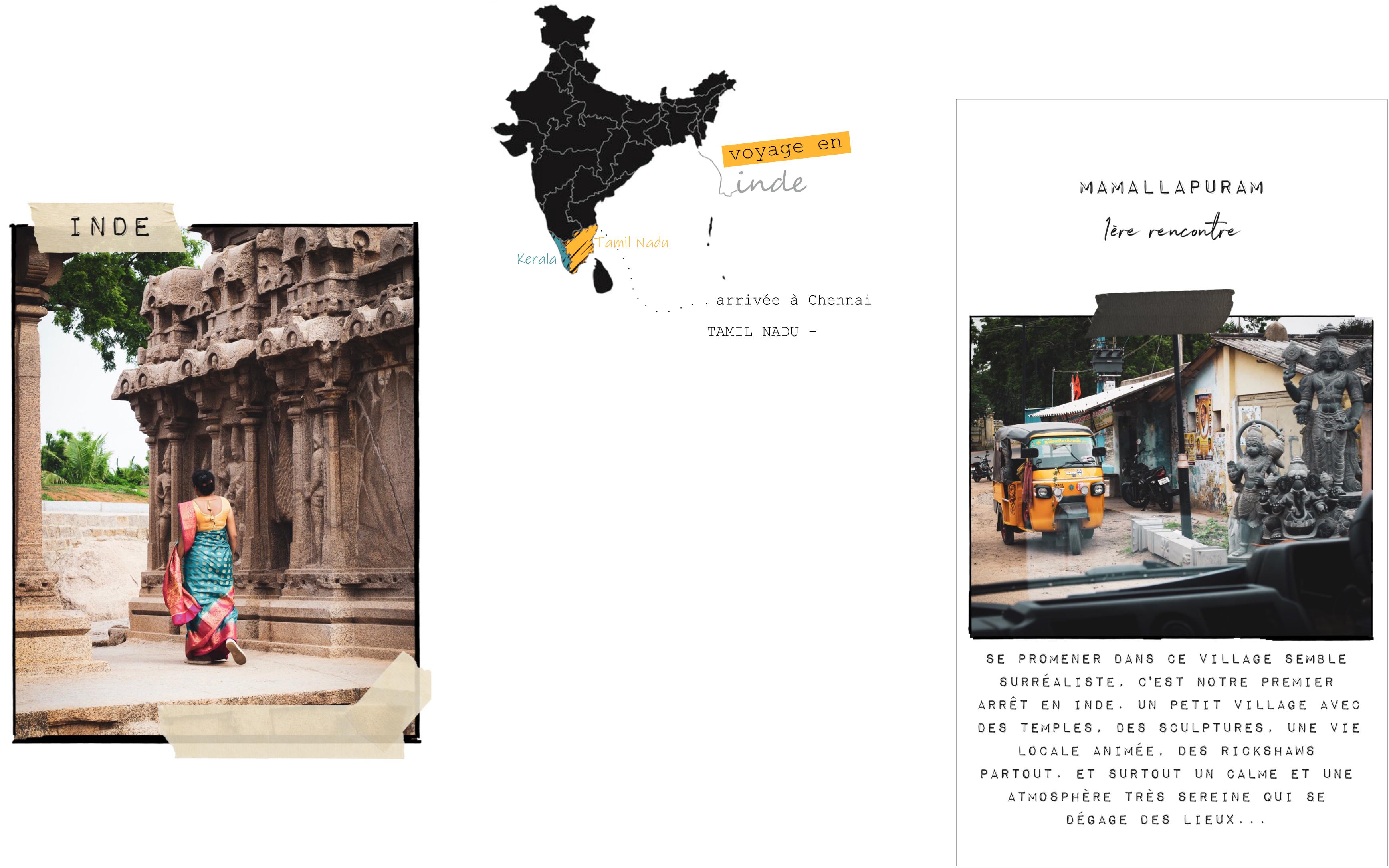 voyage au tamil nadu inde du sud - mamallapuram - carnet voyage kerala - Tamil Nadu