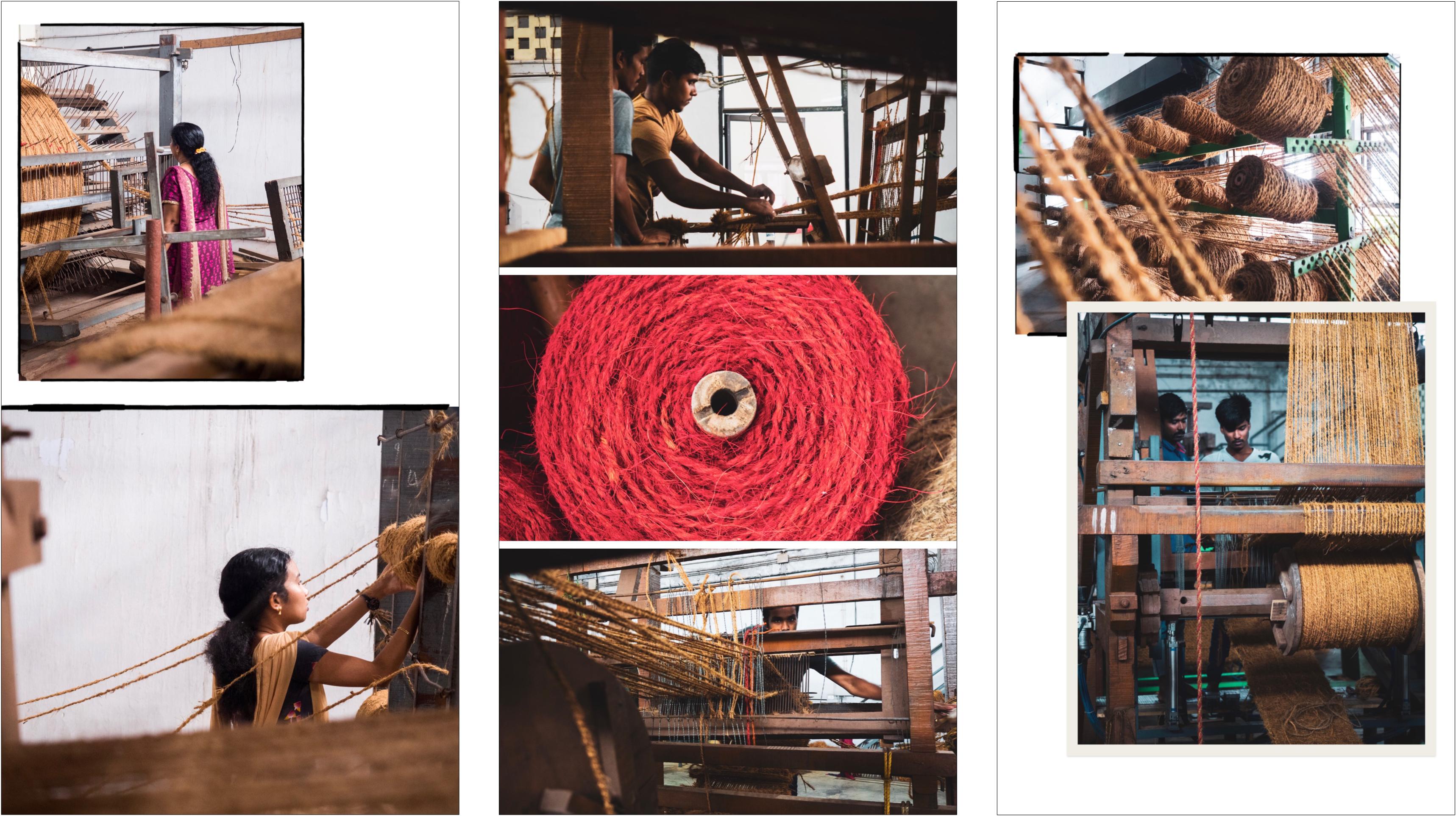 voyager au Kerala - atelier de fabrication de corde  de fibre de coco