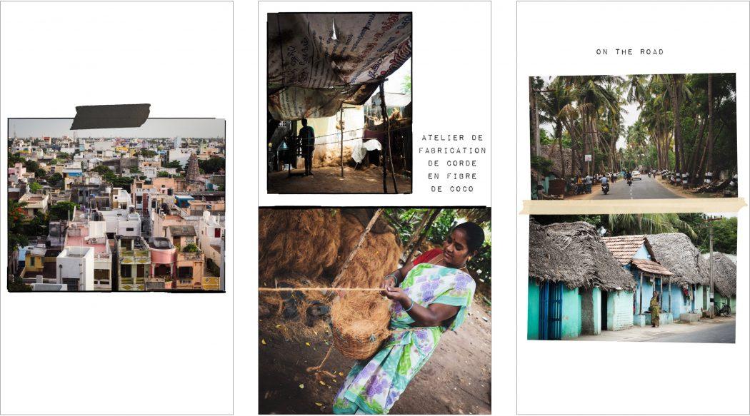 Carnet de voyage Kerala Inde du sud  : Atelier de fabrication de corde en fibre