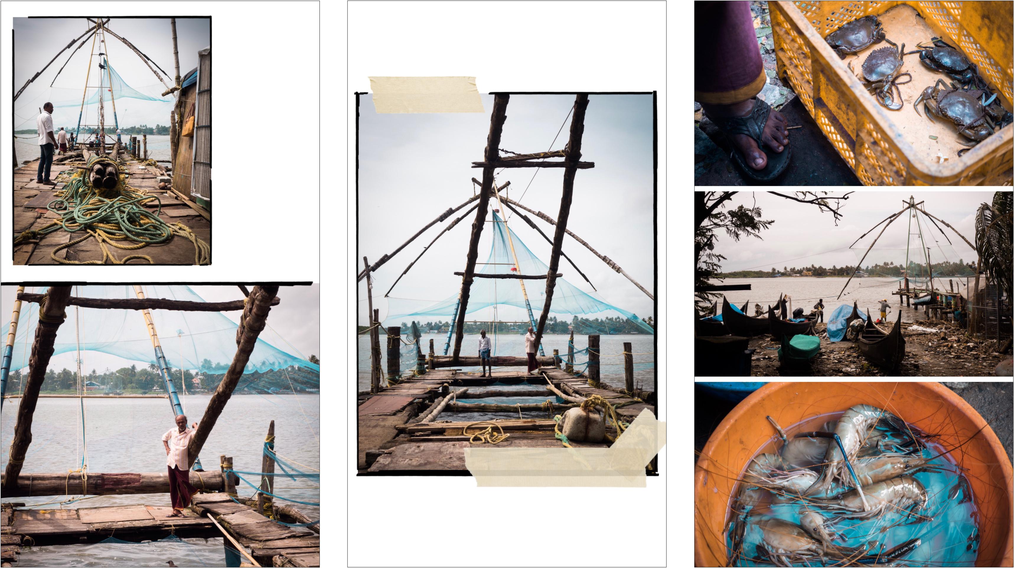voyager au kerala - Kochi - fort Cochin - carrelets chinois