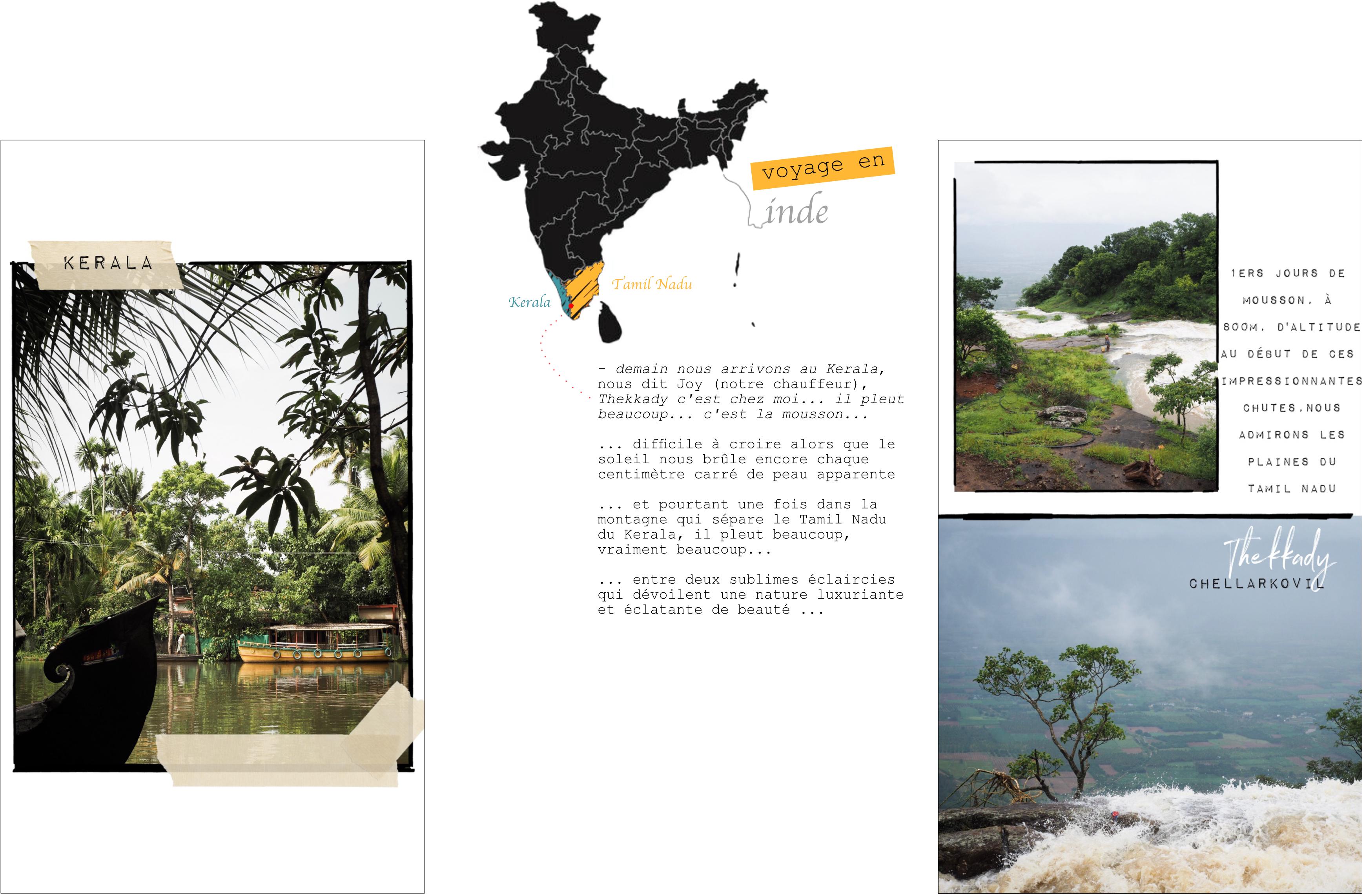 voyage au kerala - carte kerala - photos du kerala - découvrir l'inde - plantations de thé