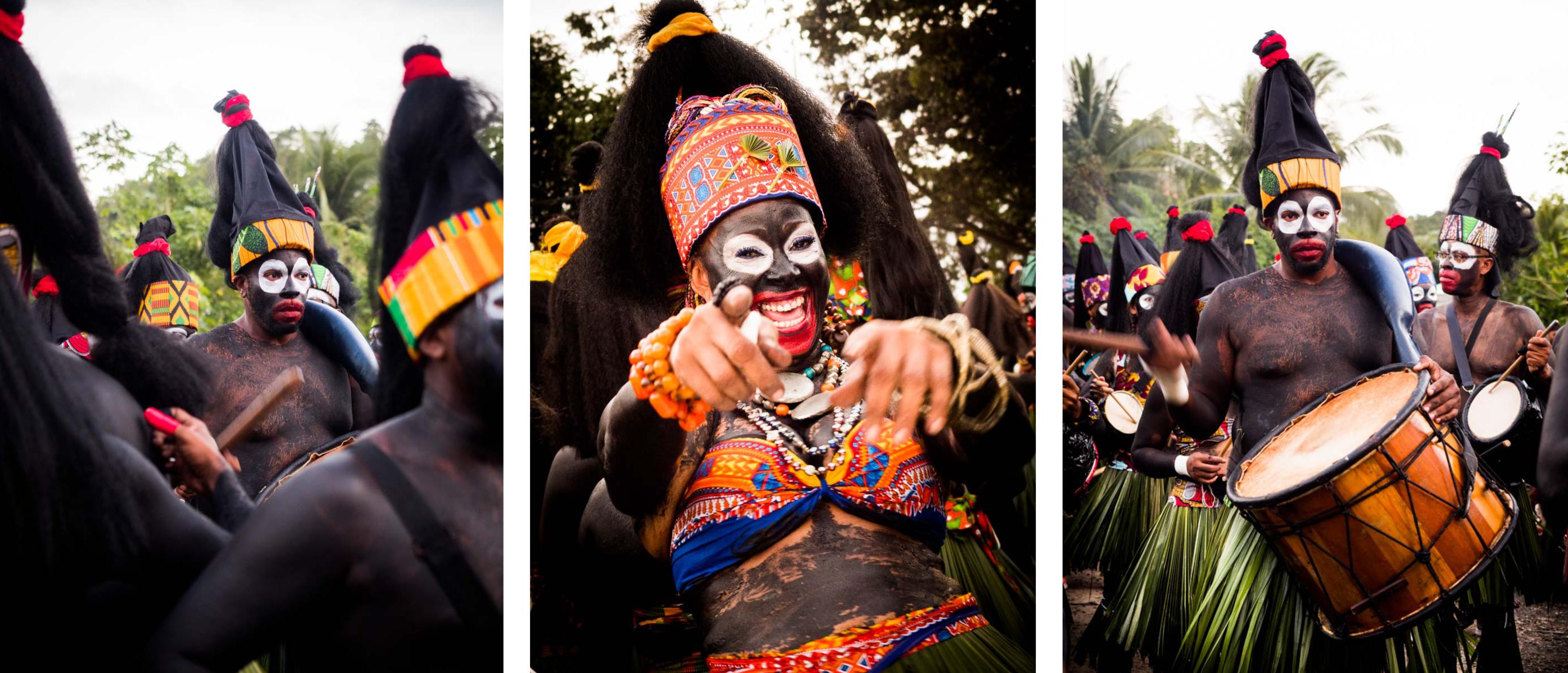quel carnaval voir en Guadeloupe - livre de photographies - groupe à peau